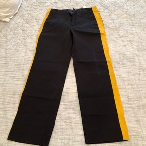 Zara black and yellow track pants